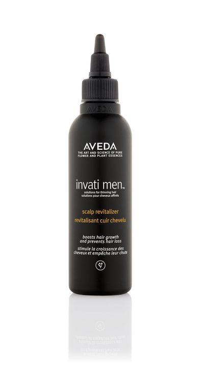 """<a href=""""http://www.aveda.com.au/cms/invatimen.tmpl?cm_mmc=Google-_-Brand_Male_Hair%20care-_-Invati%20Men-_-aveda%20invati%20men"""" target=""""_blank"""">Aveda Invati Men Scalp Revitalizer, $89.</a>"""