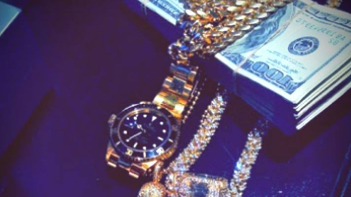 The men shared images of watches, cars and money. (Instagram)