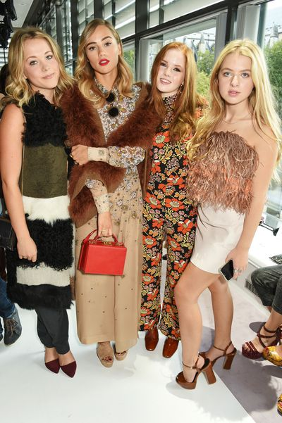Poppy Jamie, Suki Waterhouse, Ellie Bamber and Anais Gallagher.