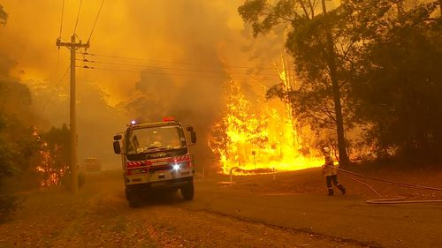 Homes have been confirmed lost in the fires burning at Bawley point on the South Coast of NSW.