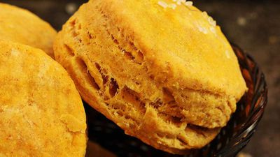 "Recipe: <a href=""https://kitchen.nine.com.au/2017/12/21/07/22/lady-flos-famous-pumpkin-scones-recipe"" target=""_top"">Lady Flo's (Lady Florence Bjelke-Petersen) pumpkin scones</a>"