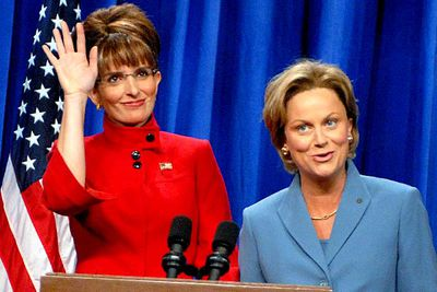 "<B>The accent:</B> On <I>Saturday Night Live</I>, Fey tackled then-vice-presidential candidate, Sarah Palin.<br/><br/><B>But you'd never know she's actually...</B> Not Sarah Palin. Seriously, this impression is spot-on — so spot-on it earned Fey another Emmy. Speaking to David Letterman, she described Palin's voice as the ""full Alaskan wind song"" — ""a little bit <I>Fargo</I>... a little bit Reese Witherspoon in <I>Election</I>""."