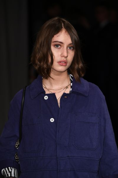 Iris Law was bare-skinned and heavenly. Her doe-like eyes were highlighted with a touch of creamy brown shadow and lashes, lashes, lashes.