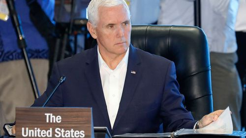 US Vice-President Mike Pence attends the APEC Summit.