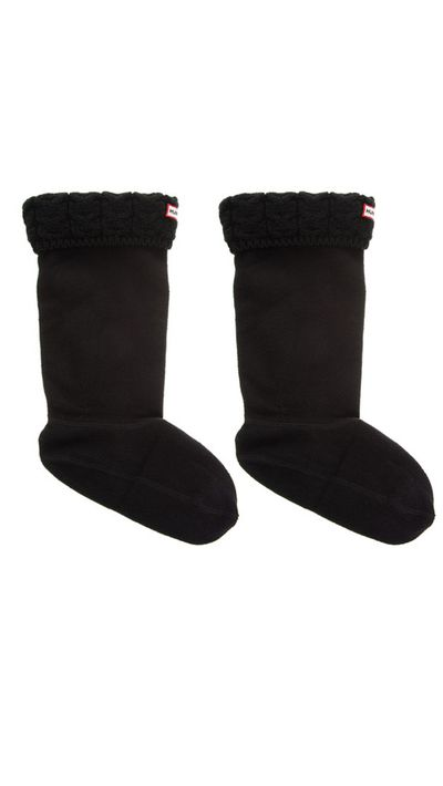"<a href=""http://www.theiconic.com.au/Cable-Knit-Socks-116951.html""> Wellie Socks, $49, Hunter</a>"