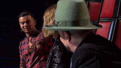 Guy Sebastian challenges Delta Goodrem on The Voice 2020