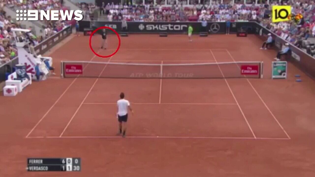 Nazi fan disrupts Swedish Open semi-final