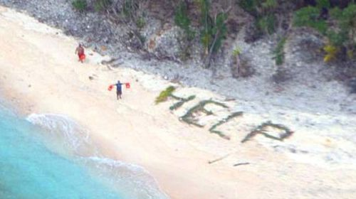 US military rescue three men from deserted Pacific island