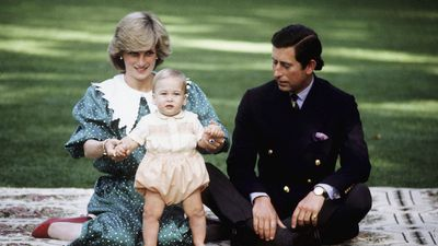 Princess Diana and Prince Charles with baby William in New Zealand, 1983<br>