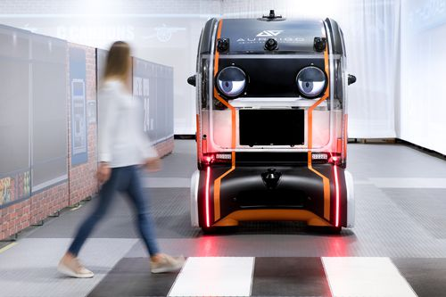 The vehicle has been designed based on the trust pedestrians put in visual interactions with human drivers, which can be replicated with driverless cars.