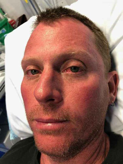 The father-of-three was dehydrated but thankful to be alive. (Supplied)