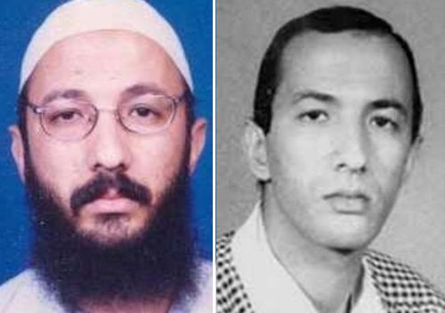 Sayf al-Adl is an al-Qaeda senior leader who has been indicted for his role in the 1998 bombings of  US embassies in Tanzania and Kenya. The attacks killed 224 civilians. The photo on the left was given to RFJ in 2018 by Smith, but the photo on the right - which is 'decades old', according to Smith - is still used to headline al-Adl's rewards page.
