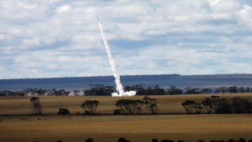 Air Force launched its first ever sub-orbital rocket from Australia to the edge of space. The payload included an Australian-designed and made miniature radio frequency receiver prototype.