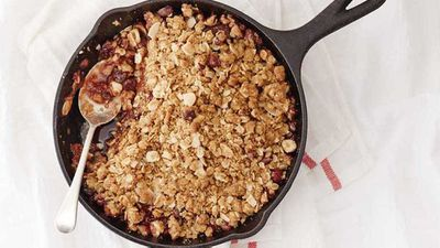"Recipe:<a href=""http://kitchen.nine.com.au/2017/08/08/16/53/barkers-blackcurrant-breakfast-crumble"" target=""_top"">Barker's blackcurrant breakfast crumble</a>"