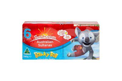 Sunbeam sultanas snack pack: 576kj/138 calories