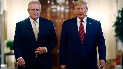"Mr Morrison was labelled a ""man of titanium"" by the US president during his official visit last month."