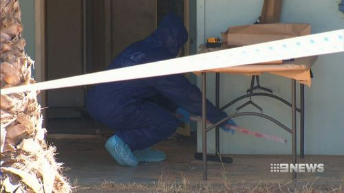 The woman was found dead inside the Aldgate Street home. (9NEWS)