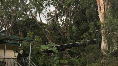 South-east Queensland storms: School damaged and power out
