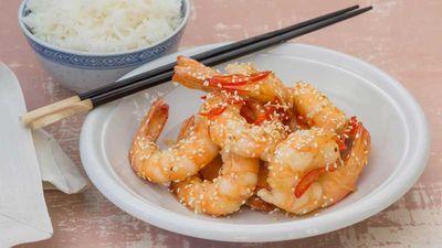 "Recipe: <a href=""http://kitchen.nine.com.au/2018/02/13/11/59/stir-fried-ginger-and-honey-prawns-recipe"" target=""_top"">Stir-fried ginger and honey prawns</a>"