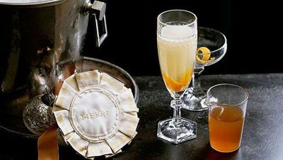 "Recipe: <a href=""http://kitchen.nine.com.au/2016/05/16/13/38/lillet-burnt-orange-and-vanilla-mimosa"" target=""_top"">Lillet, burnt orange and vanilla mimosa</a>"