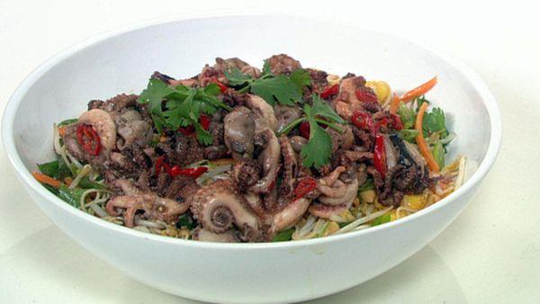 Chilli octopus salad