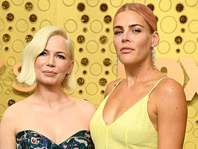 LOS ANGELES, CALIFORNIA - SEPTEMBER 22: (L-R) Michelle Williams and Busy Philipps attend the 71st Emmy Awards at Microsoft Theater on September 22, 2019 in Los Angeles, California. (Photo by Jeff Kravitz/FilmMagic)