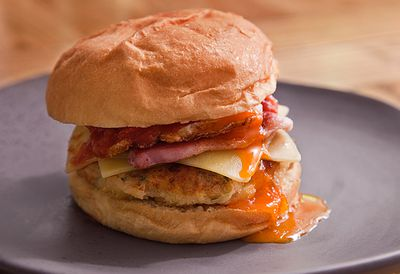 "Recipe: <a href=""Best ever bacon recipes"" target=""_top"">Bacon and baked bean brekkie burger</a>"