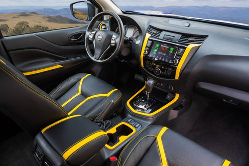 The electric yellow colour which continues inside the cab is inspired by electric circuits.