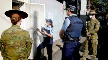The ADF are bolstering local police efforts in visiting the homes and residences of Australians who are in mandatory isolation.