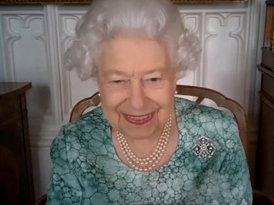 Queen on video call