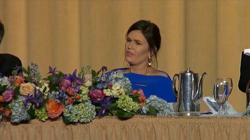 Michelle Wolf almost left Sarah Huckabee Sanders in tears.