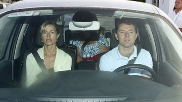 Kate and Gerry McCann, the parents of missing British girl Madeleine, are photographed in September 2007 in their car, heading for the airport.