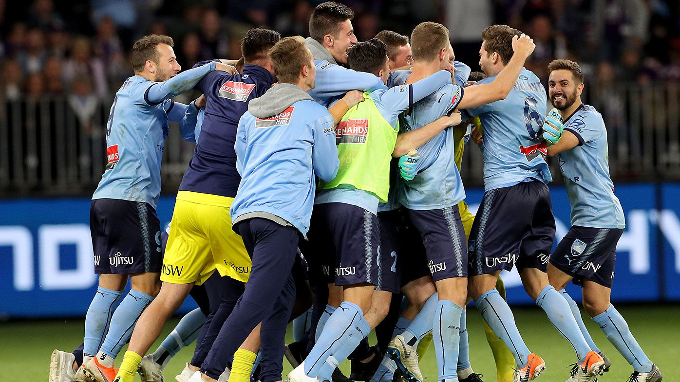 Sydney FC take out A-League title after Andrew Redmayne heroics in penalty shootout