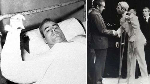 McCain stepped up to serve his country when the Vietnam war broke out.