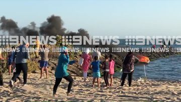 Jet ski bursts into flames on Melbourne beach