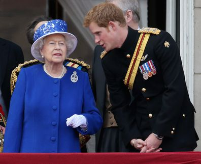 The Queen and Prince Harry in 2013.