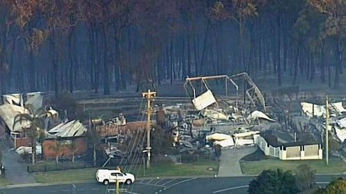 A home in Tathra gutted by March bushfires.