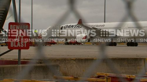 The Airbus A330 was travelling from Perth to Sydney. (9NEWS)