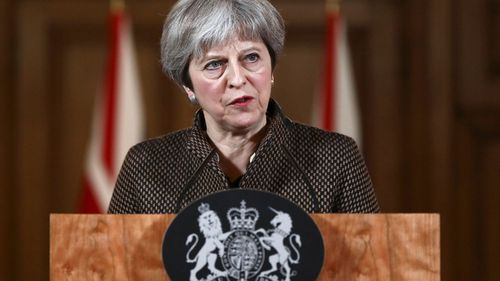 UK Prime Minister Theresa May addressed the press on Saturday calling the military strikes 'successful' (PA/APP)