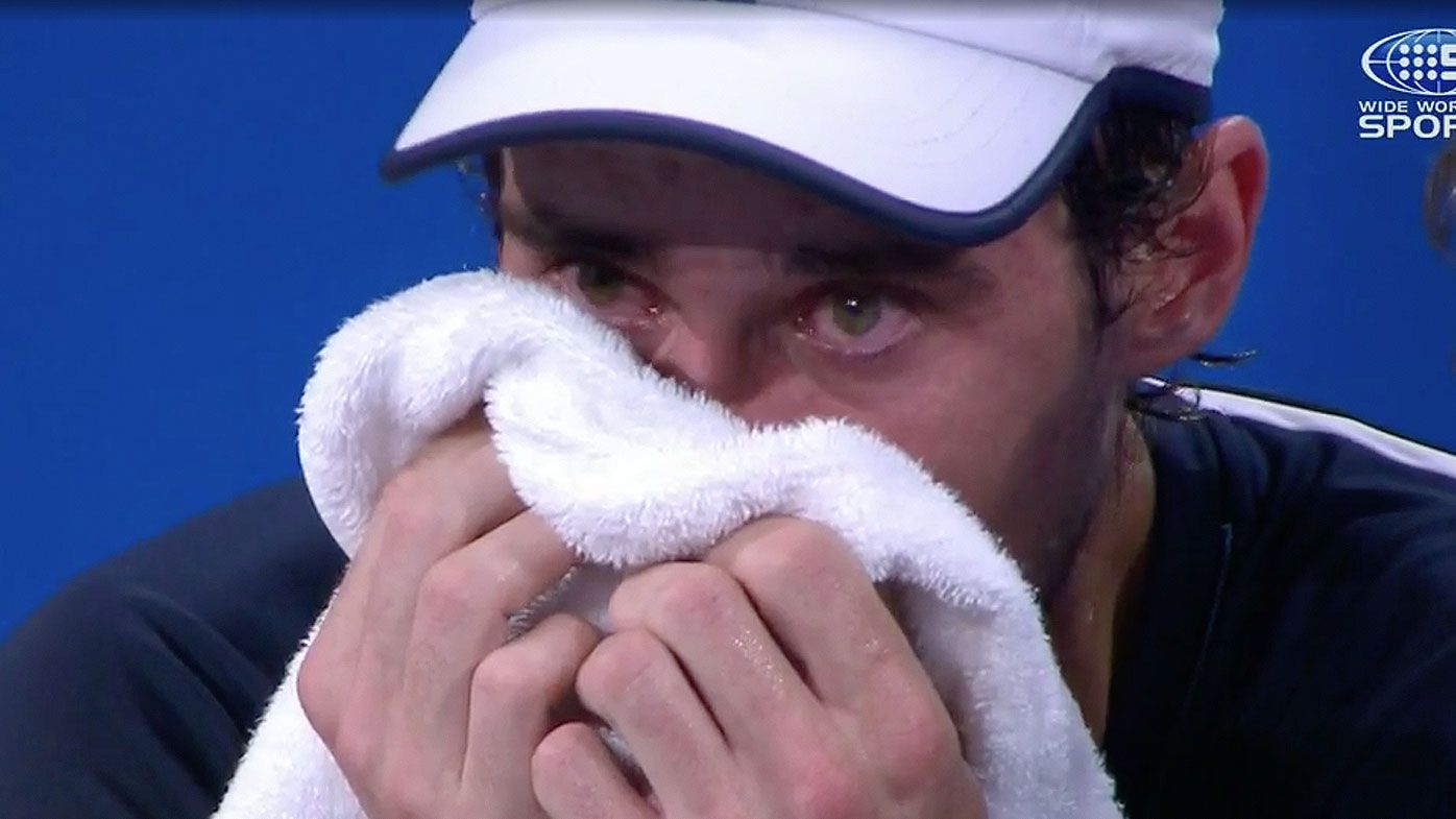 Guido Pella reduced to tears in ATP Cup match