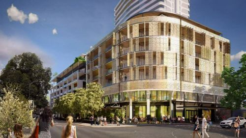 The new state of the art apartment and retail complex, and a controversial 24-storey tower.