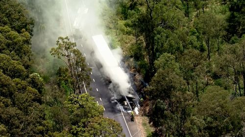 The eastbound off-ramp from the M4 to Reservoir Road is closed due to a truck fire.