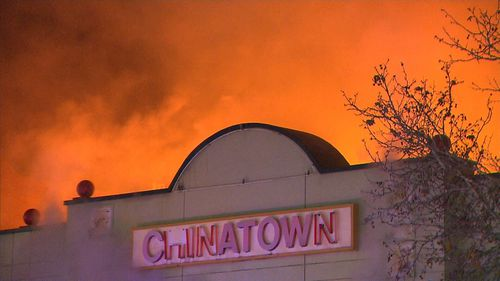 A fire has ripped through a shop in Adelaide's China Town. (9NEWS)
