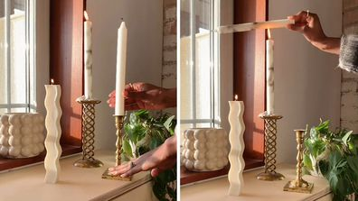 TikTok clip shows how to make marble-look candles