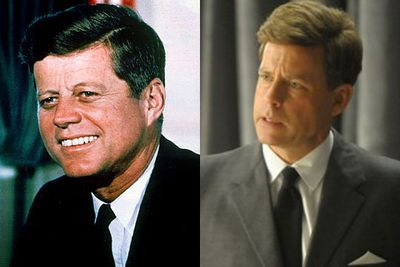 Left: John F. Kennedy / Right: Greg Kinnear
