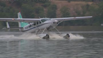 For the first time ever a seaplane has travelled from Sydney to Canberra.