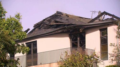 The roof was damaged in the blaze.
