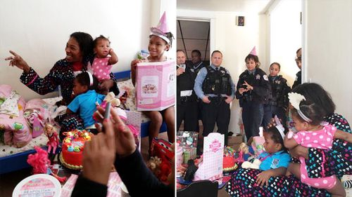 Police treat children found in abandoned house to 'impromptu birthday party'