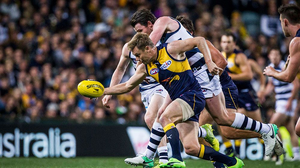 Sam Mitchell reported as West Coast Eagles beat Geelong Cats