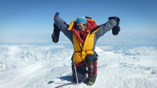 Katie Sarah successfully summitted Mount Sidley in Antarctica on January 14. (9NEWS)